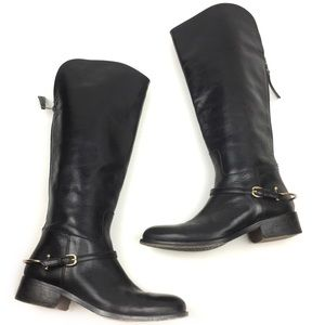 Johnston and Murphy leather riding boot tall